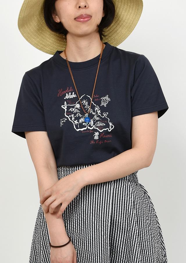 SALE!!【2019春夏】マッププリントTシャツ半袖【PL159114】【ポートランド】