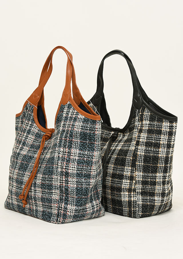 PreSALE_10%OFF!!【2021秋冬】チェックトートバッグ【1211-509-1】【Selection】