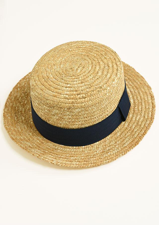 【2021春夏】麦わらブレードカンカン帽【299M532P21】【Selection】