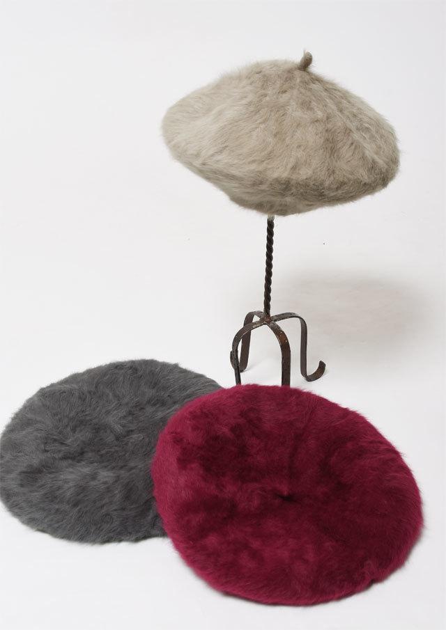 【2018秋冬】シャギーベレー帽【599G7004-A】【Selection】
