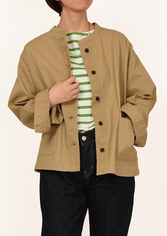 CharmingSale_10%OFF!!【2020秋冬】コットンツイルジャケット【P-17433】【ブルーライフ】