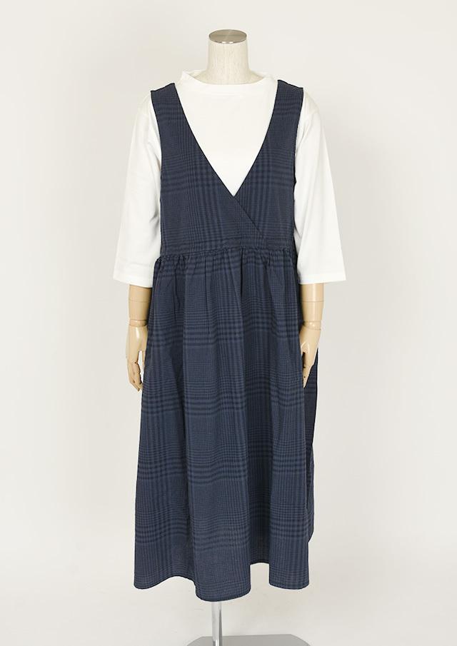 【2021春夏】グレンチェックジャンパースカート【PE021002】【ポートランド】