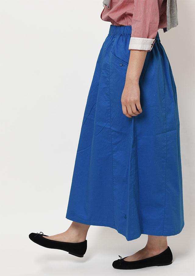 SALE!!【2019春夏】ツイル無地プルオンスカート【PE089001】【ポートランド】