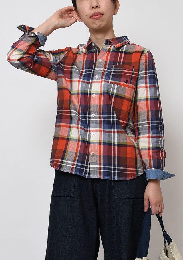 【2019春夏】ヘリンボーンタータンチェックシャツ【PE129001】【ポートランド】