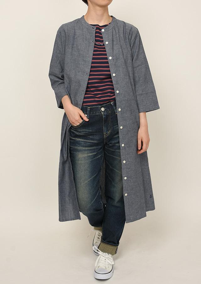 【2021秋冬】スタンドカラーワンピース七分袖【PL021502】【ポートランド】