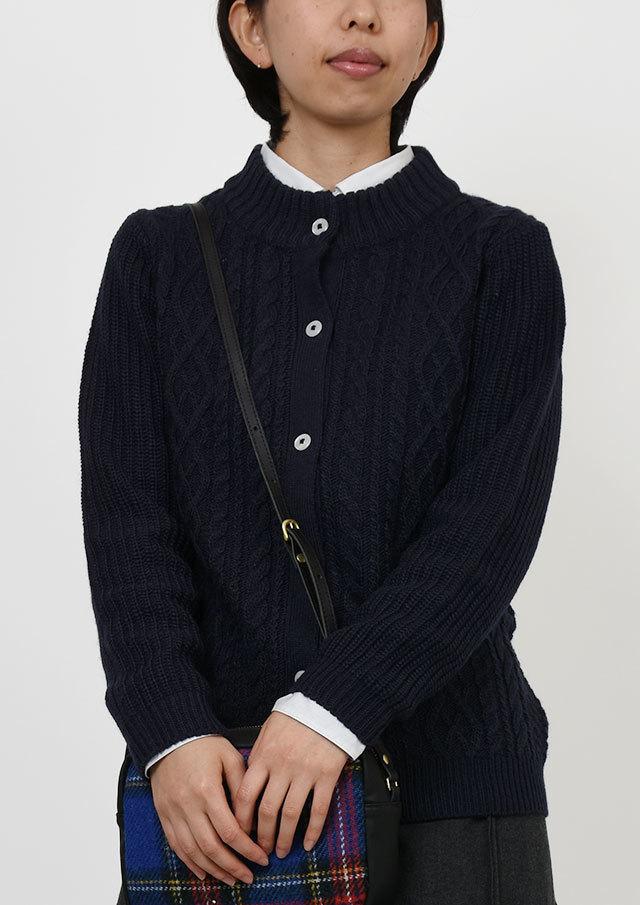 【2019秋冬】ケーブルハイネックニットカーディガン【PL069624】【ポートランド】