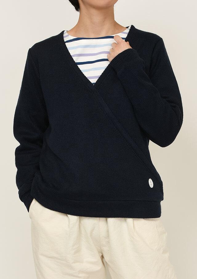 SALE!!【2020秋冬】ダブルニットカシュクール長袖プルオーバー【PL070611】【ポートランド】