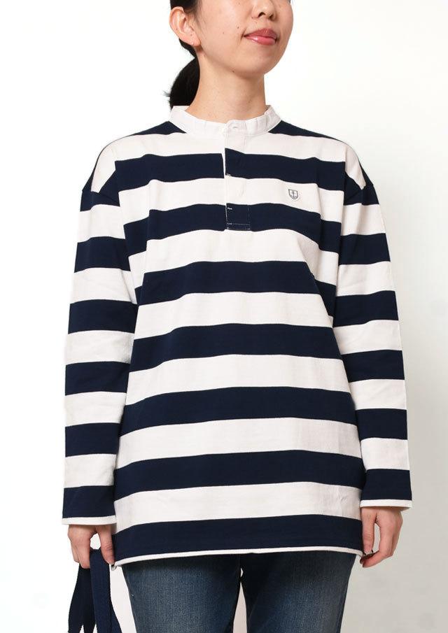 【2019春夏】ボールドボーダーロングTシャツ長袖【PL079202】【ポートランド】