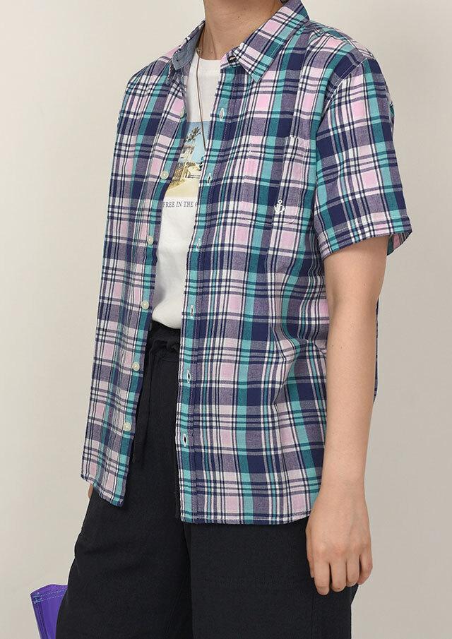 20%OFF!!【2020春夏】マドラスチェックシャツ半袖【PL120101A】【ポートランド】
