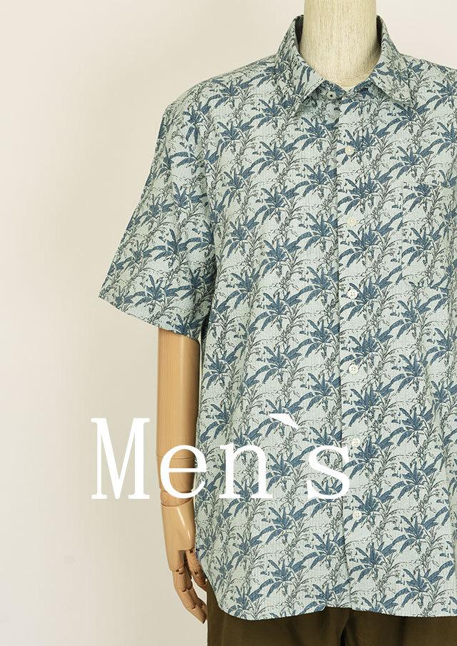 SALE!!【2020春夏】MENSサッカープリントシャツ半袖【メンズ】【PL120103AA】【ポートランド】