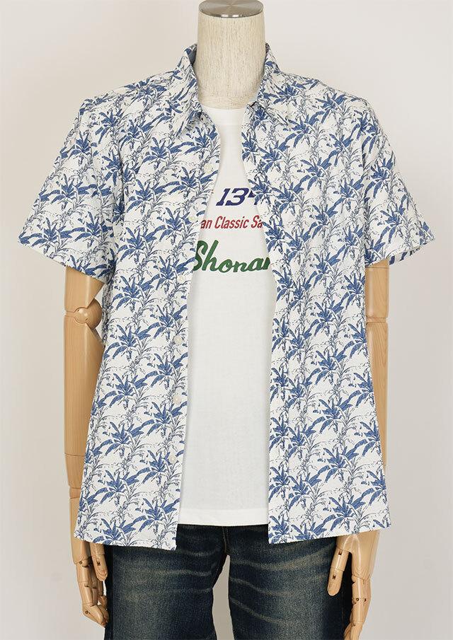SALE!!【2020春夏】サッカープリントシャツ半袖【PL120103A】【右前タイプ】【ポートランド】