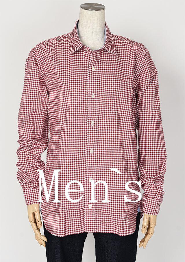 【2020秋冬】MENSオックスギンガムチェックミニカラーシャツ長袖【メンズ】【PL120703AA】【ポートランド】