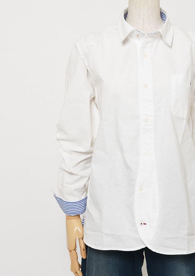 SALE!!【2019春夏】MENSオックス無地ミニカラーシャツ長袖【メンズ】【PL129201AA】【ポートランド】