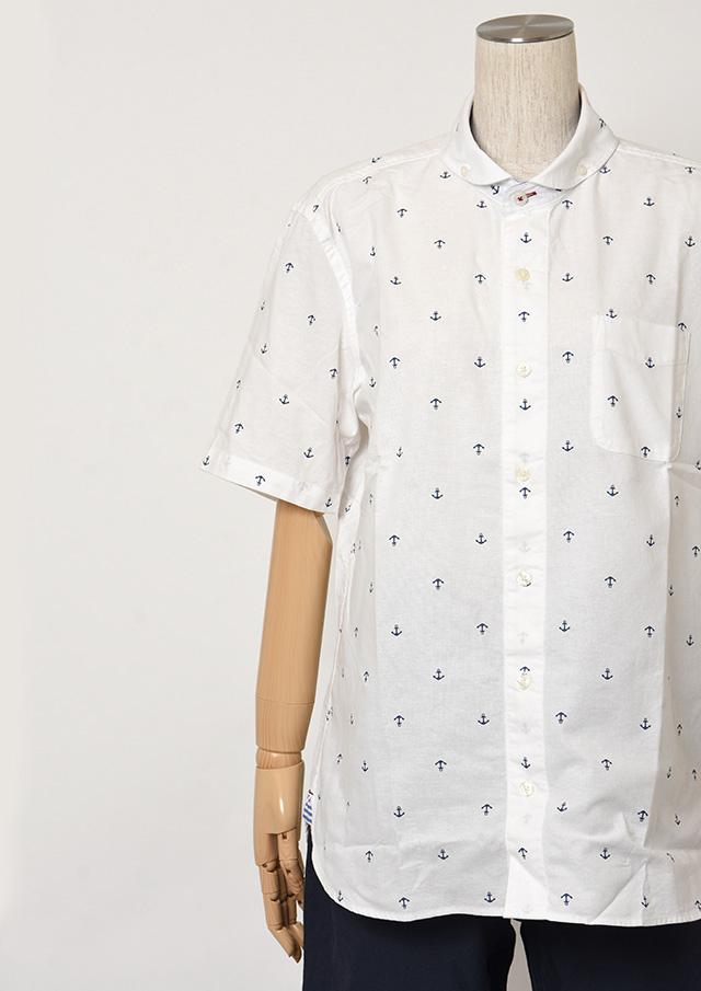 【2019春夏】MENSオックスイカリプリントショールカラーボタンダウンシャツ半袖【メンズ】【PL129212AA】【ポートランド】
