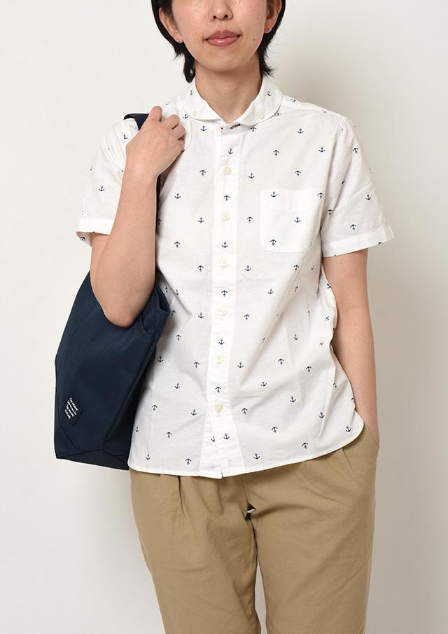 【2019春夏】オックスイカリプリントショールカラーボタンダウンシャツ半袖【PL129212A】【ポートランド】