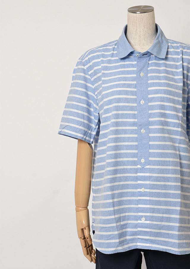 【2019春夏】MENSオックスボーダークレリックミニカラーシャツ半袖【メンズ】【PL129213AA】【ポートランド】
