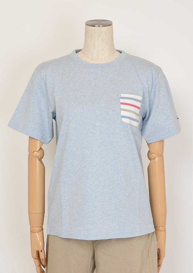 SALE!!【2020春夏】ポケットボーダークルーネックTシャツ半袖【PL150007A】【ポートランド】