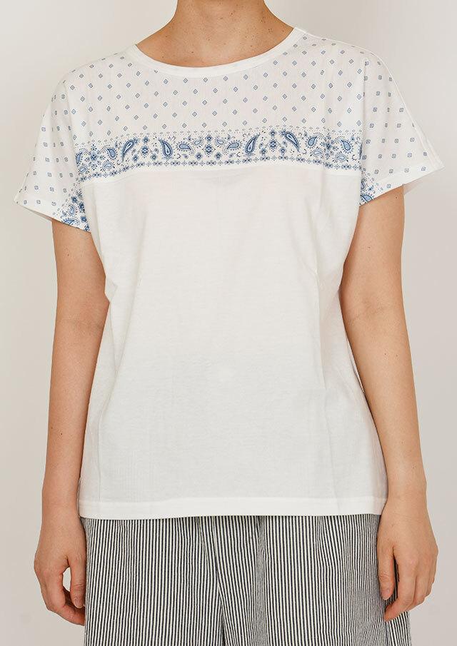 SALE!!【2020春夏】パネルプリント配色Tシャツ【PL150115】【ポートランド】