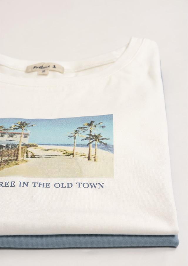 SALE!!【2020春夏】ボートネックフォトプリントTシャツ【PL150119】【ポートランド】