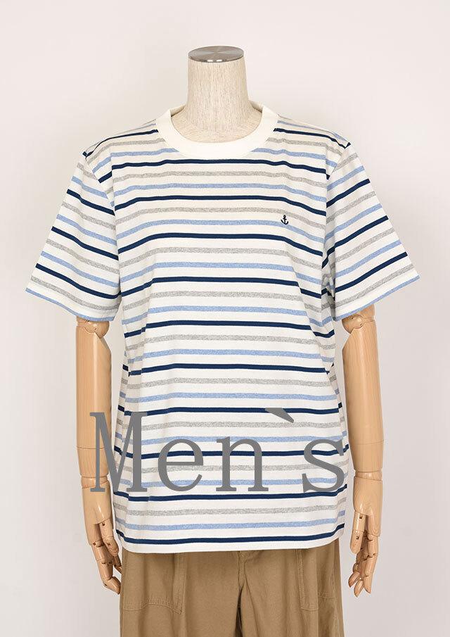 20%OFF!!【2020春夏】MENSボーダークルーネックTシャツ半袖【メンズ】【PL150202】【ポートランド】