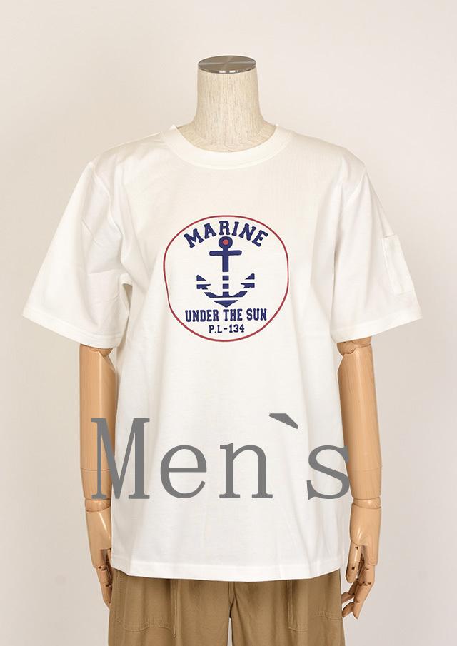 20%OFF!!【2020春夏】MENS機能素材_ポケット付きイカリプリントTシャツ【メンズ】【PL150303AA】【ポートランド】