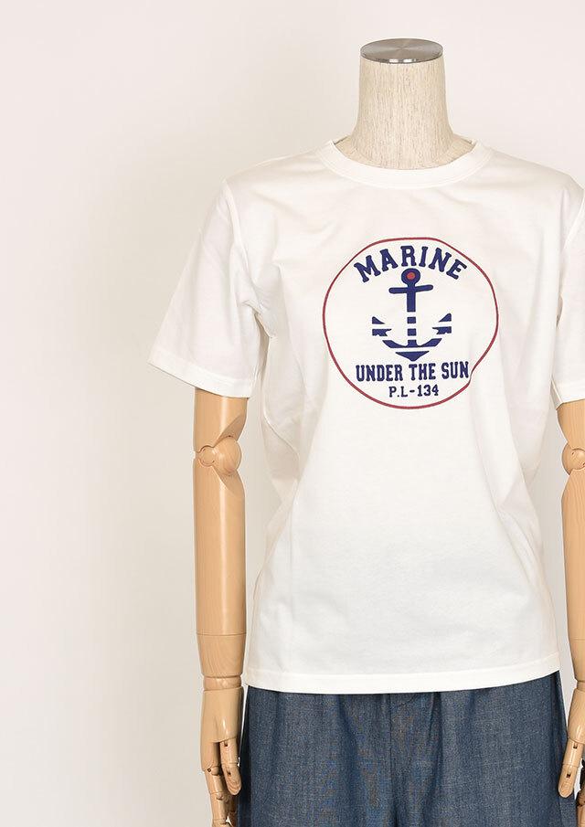 SALE!!【2020春夏】機能素材_ポケット付きイカリプリントTシャツ【PL150303A】【ポートランド】