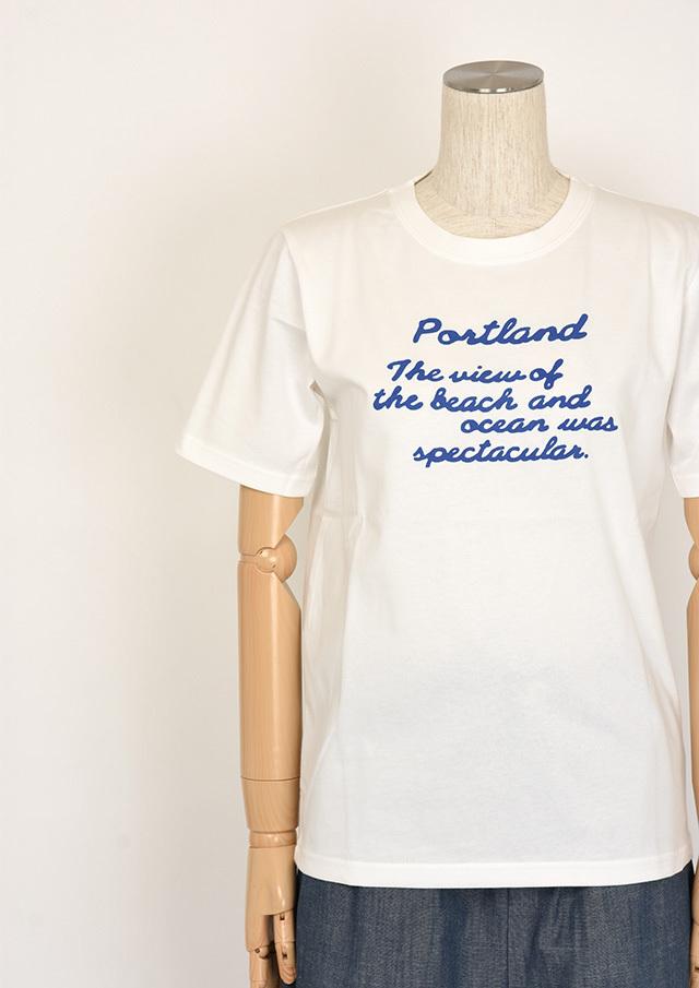 20%OFF!!【2020春夏】機能素材_ポケット付き英字ロゴプリントTシャツ【PL150304A】【ポートランド】
