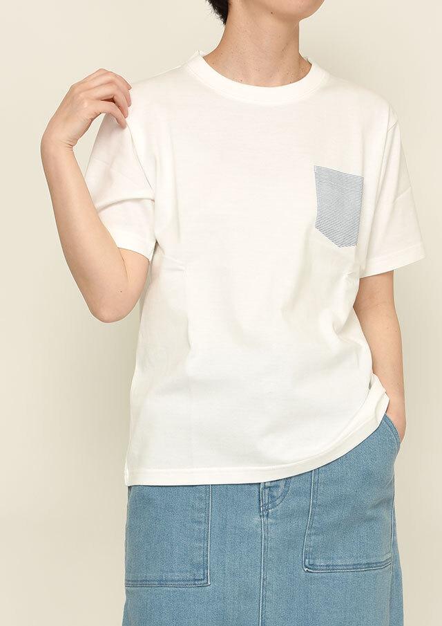 【2021春夏】ポケットボーダークルーネックTシャツ【PL151005A】【ポートランド】