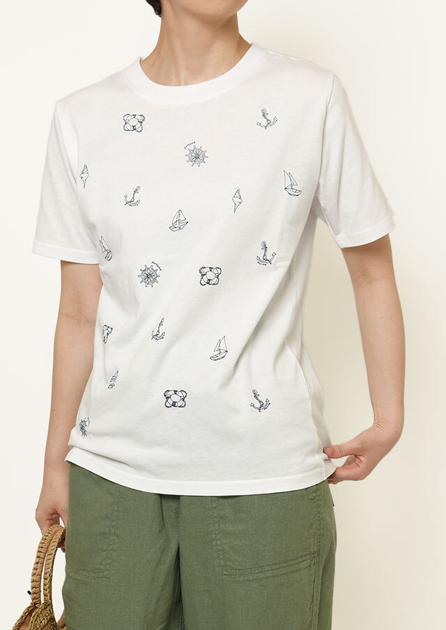 【2021春夏】USAコットンマリンモチーフ柄プリントTシャツ【PL151104】【ポートランド】