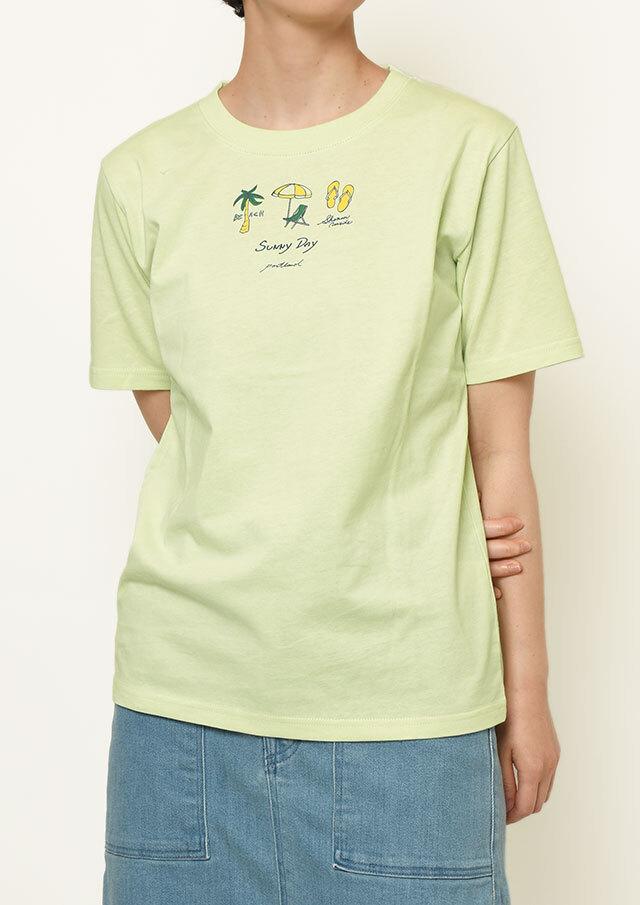 【2021春夏】USAコットンSUNNYDAYプリントTシャツ【PL151108】【ポートランド】