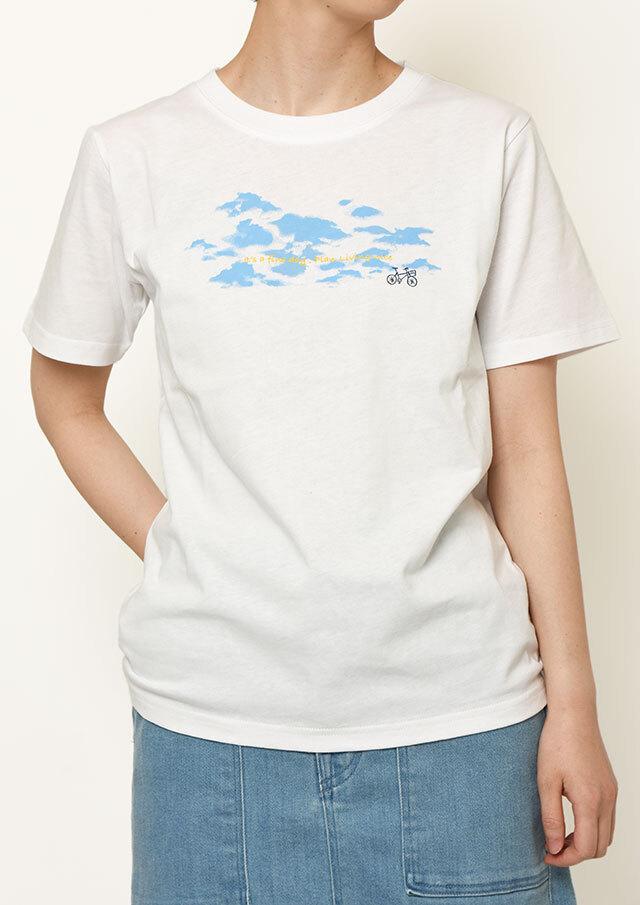 【2021春夏】USAコットンCLOUDプリントTシャツ【PL151109】【ポートランド】