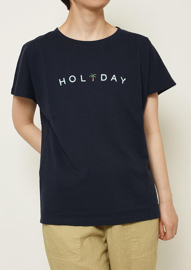 【2021春夏】USAコットンHOLIDAYプリントフレンチスリーブTシャツ【PL151111】【ポートランド】