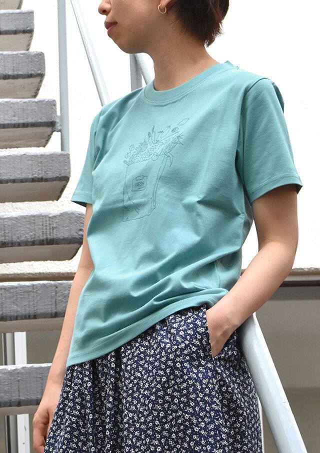 SALE!!【2021春夏】クルーネックFRESHプリントTシャツ【PL151112】【ポートランド】