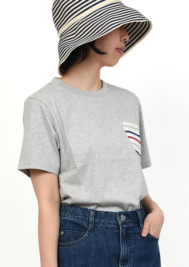 【2019春夏】ポケットボーダークルーネックTシャツ半袖【PL159011A】【ポートランド】