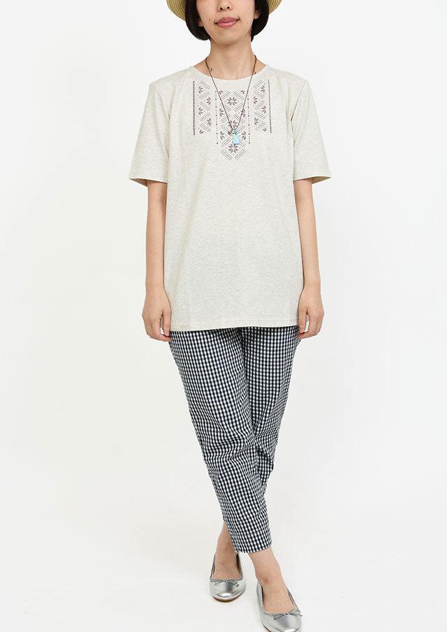 SALE!!【2019春夏】刺繍風プリントチュニック【PL159023】【ポートランド】