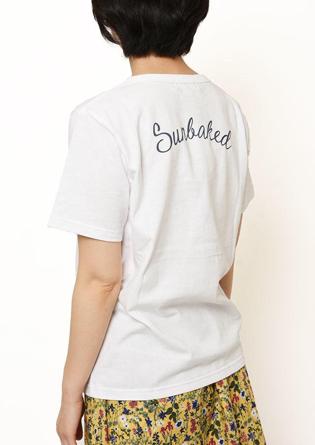 【2019春夏】SUNCOTTONバックプリントTシャツ四分袖【PL159105】【ポートランド】