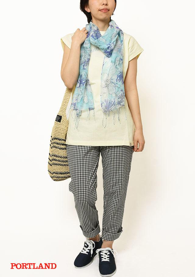【2019春夏】SUNCOTTONフレンチスリーブロングTシャツ【PL159106】【ポートランド】