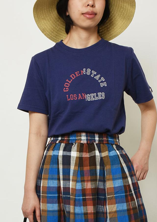 【2019春夏】SUNCOTTON英字ロゴプリントTシャツ半袖【PL159107】【ポートランド】