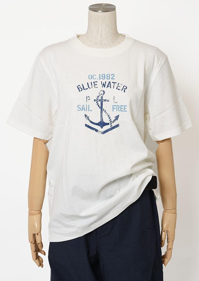 【2019春夏】MENSイカリロゴプリントクルーネックTシャツ半袖【メンズ】【PL159111AA】【ポートランド】