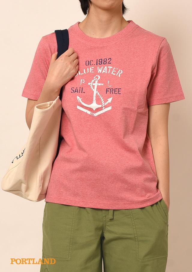 【2019春夏】イカリロゴプリントクルーネックTシャツ半袖【PL159111A】【ポートランド】