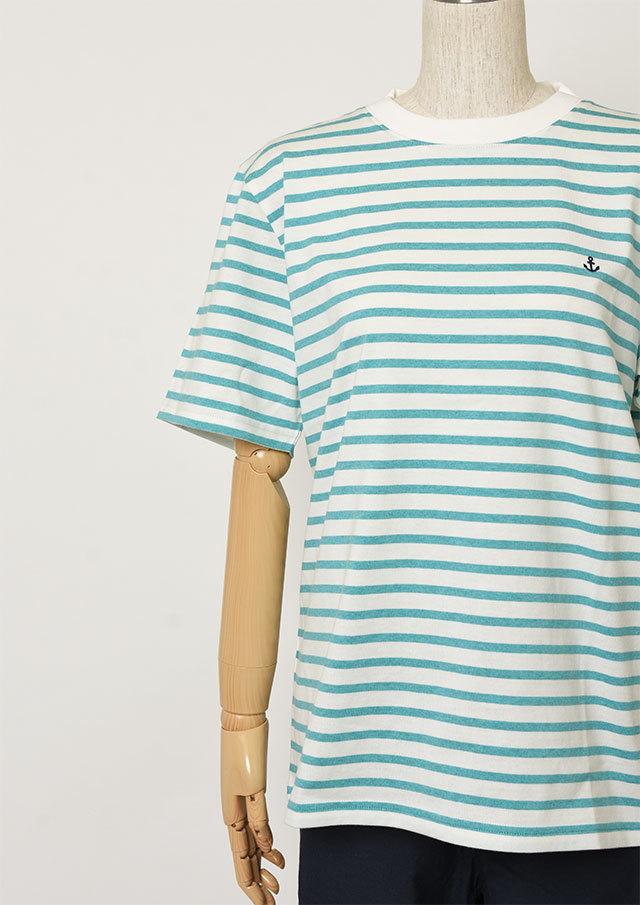 【2019春夏】MENSボーダークルーネックTシャツ半袖【メンズ】【PL159203】【ポートランド】