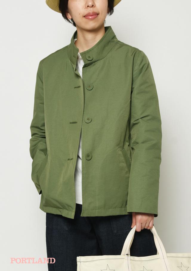 【2019春夏】グログランスタンドカラージャケット【PL169002B】【ブルーライフ】
