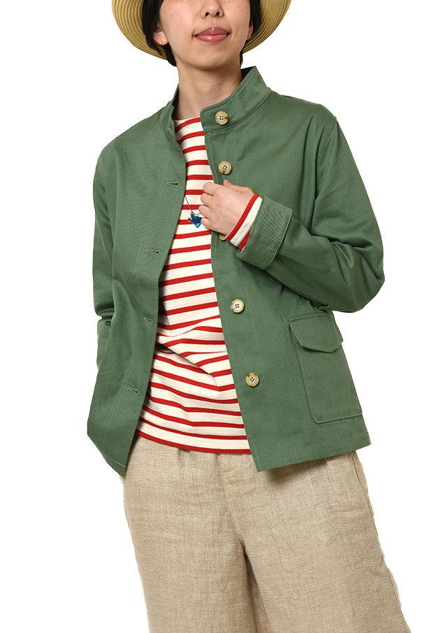 【2019春夏】ツイルミリタリー風ジャケット【PL169006B】【ブルーライフ】