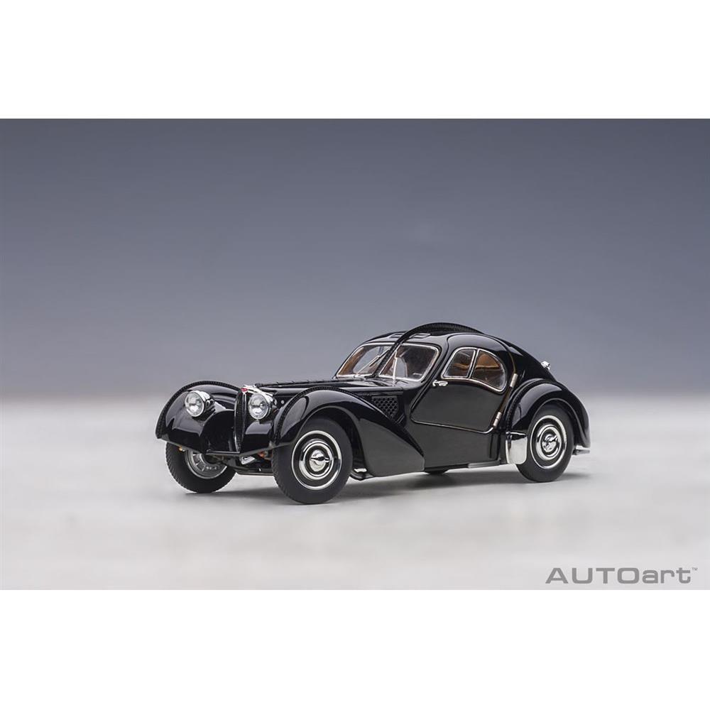 オートアート 1/43 ブガッティ タイプ57SC アトランティック 1938 ブラック/ディスクホイール 完成品ミニカー 50946