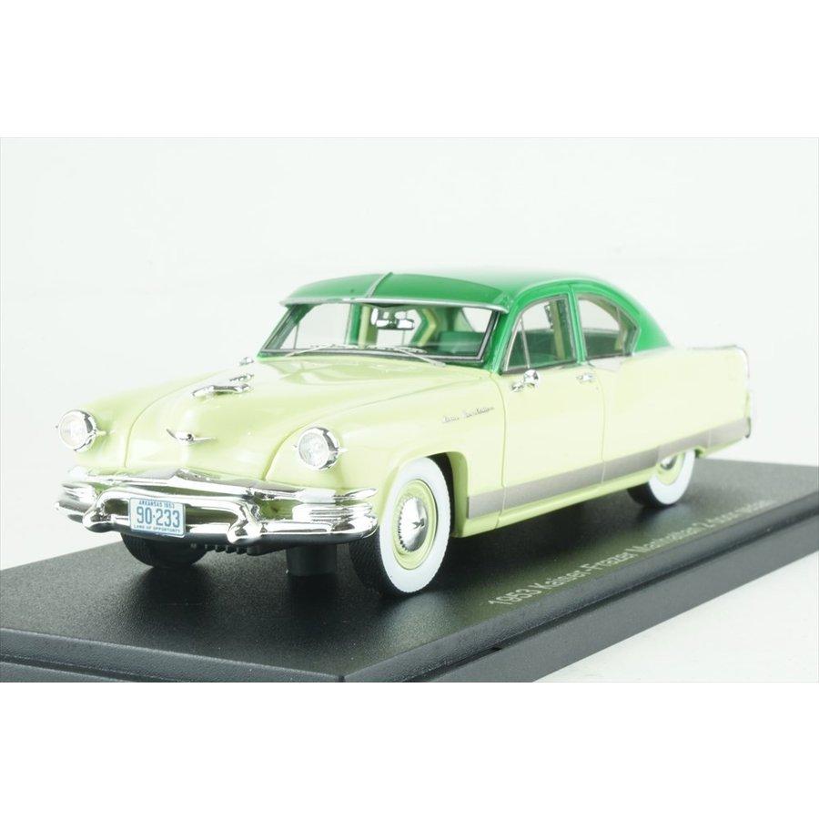 エスバルモデル 1/43 カイザーフレイザー マンハッタン 2ドアセダン 1953 グリーンツートン 完成品ミニカー EMUS43047A