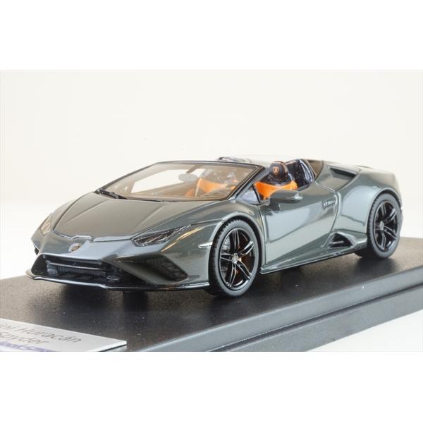 ルックスマート 1/43 ランボルギーニ ウラカン Evo RWD スパイダー Grigio Telesto 完成品ミニカー LS521C