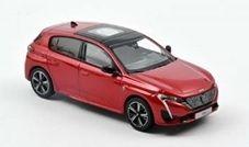 【10月予約】ノレブ 1/43 プジョー 308 GT 2021 エリクサーレッド 完成品ミニカー 473932
