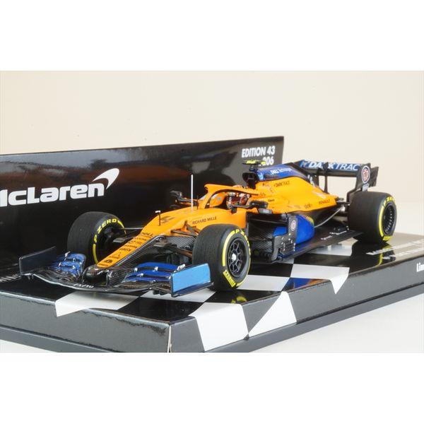 ミニチャンプス 1/43 マクラーレン ルノー MCL35 No.4 2020 F1 イタリアGP 4位 L.ノリス 完成品ミニカー 537205104