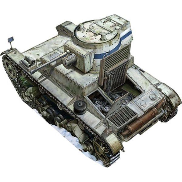 【6月予約】カムス 1/35 ビッカース6トン軽戦車B型フィン軍改造・後期型・インテリア付 スケールモデル CCA35009