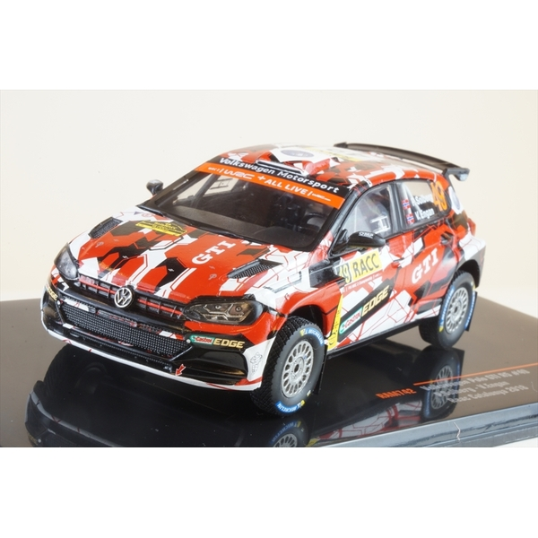イクソ 1/43 フォルクスワーゲン ポロ GTI R5 No.49 2018 WRC ラリー・カタルーニャ P.ソルベルグ/V.エンガン 完成品ミニカー RAM742